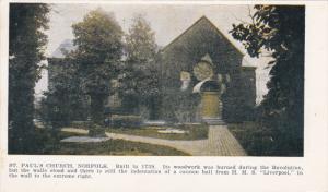 NORFOLK, Virginia, 1900-1910's; St. Paul's Church
