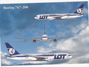 Polskie Linie Lotnicze [LOT] Boeing 767-200 Jet Airplane , 80-90s
