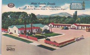 Arizona Wickenburg Motel Rancho Grande 1945 sk2849