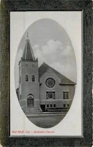 C-1910 Frame like Red Bluff California Methodist Church PNC Glosso Series 1565