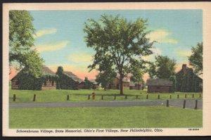 Ohio NEW PHILADELPHIA Schoenbrunn Village State Memorial Ohio's First Village L
