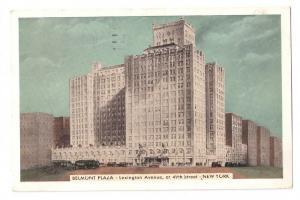 Belmont Plaza New York NY 1938 Postcard