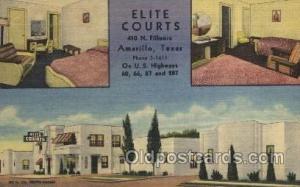 Elite Curts, Amarillo, Texas, USA Motel Hotel Postcard Postcards  Elite Curts...