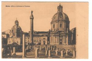 Italy Roma Foro Colonna di Tratiano Trajan Vtg Postcard