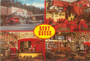 Ruby House Family Restaurant 4 Views Keystone South Dakota Continental Postcard