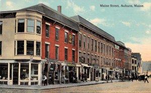 Auburn Maine Maine Street GAR Post Building Vintage Postcard JE359192