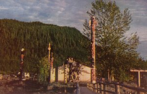 Totem Poles , Shakes Island , WRANGELL , Alaska , 1950-60s