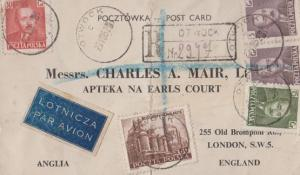 Charles Mair At Earls Court Exhibition London Antique Postcard