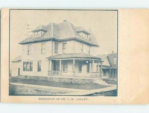 Pre-1907 RESIDENCE OF DOCTOR O.H. NIHART Angola Indiana IN W5017