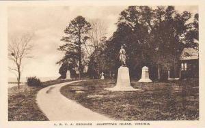 virginia Jamestown Island A.P.V.A.Grounds Albertype