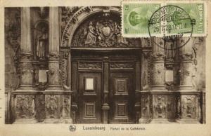 CPA Luxembourg Portail de la Cathédrale (30664)