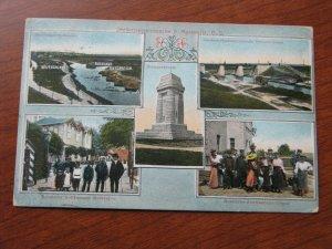 Russia Austria Germany Stamps Postcard Used 1914 Postmark Gleiwitz WWI