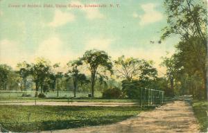Union College  Schenectady New York Corner of Athletic Field 1919 Postcard