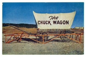 Postcard THE CHUCK WAGON Replica old covered Wagon Unposted FPC.