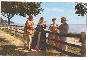 VA Jamestown Historic Costumes Settlers James Fort Postcard