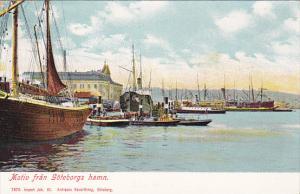 Boats, Ships, Motiv Fran Goteborgs Hamn, Goteborg, Sweden, 1900-1910s