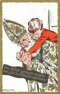 Saint Nicolas - European Santa Claus Vintage Postcard  04.01