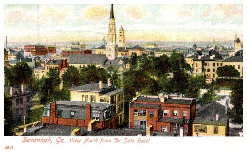 Georgia Savannah , Aerial view from De Soto Hotel