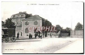 Postcard From Old Limoges Barracks Army Chasseurs a Cheval