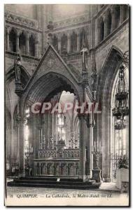 Old Postcard Quimper Cathedrale The Altar Master
