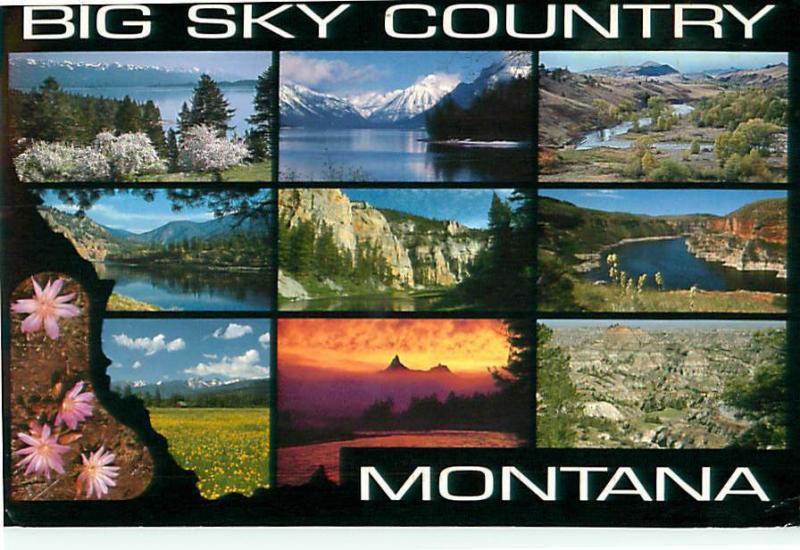 Big sky country montana greeting cards 9 scenes postcard 8229 big sky country montana greeting cards 9 scenes postcard 8229 m4hsunfo