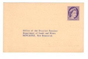 Postal Stationery Postcard Elizabeth II Newcastle, New Brunswick Lands and Mines