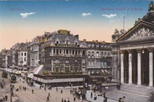Monico Bourse, Boulevard Anspach et la Bourse, Bruxelles, Belgium 1900-10s