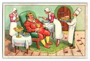 The King of Schlaraffia, Schlaraffenland, Echte Wagner German Trade Card *VT31R