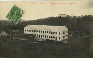 indochina, TONKIN DAP-CAU, Caserne de l'Artillerie Coloniale (1907) Postcard