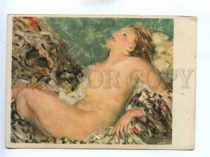 195778 GERMANY Nude girl by Rezso Burghardt Vintage postcard