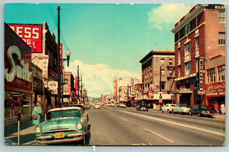 Richmond CA Kress Wall Sign~Smiths, Johnson Menswear~Macy's~Toys~Nice 1956 Car