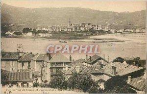 Old Postcard View Hendaye Bidasoa and Hondarribia