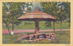 Arkansas Little Rock Natural Beach Umbrella Lakewood Curteich