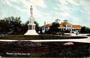 Colorado Denver City Park Monument 1909
