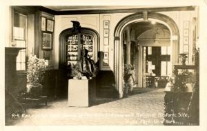 NY - Hyde Park. Franklin D Roosevelt's Reception Hall.   *RPPC