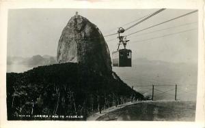 RIO de JANIERO BRAZIL PAO DE ASSUCAR BLACK & WHITE PHOTO POSTCARD c1950s