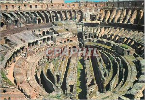 Postcard Modern Roma inside the colisee (detail)