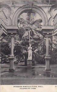 Interior Horticultural Hall, Fairmount Park, Philadelphia, Pennsylvania, 1900...