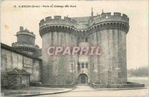 Old Postcard Alencon Orne Gate Chateau des Ducs