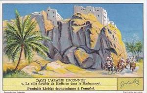 Liebig Vintage Trade Card S1307 Undiscovered Arabia 1935 No 5 La ville fortif...