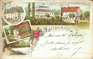 Czech Republic - Ratiborice Posted Litho 02.60