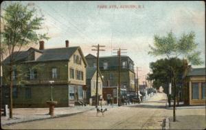Auburn RI Park Ave c1910 Postcard