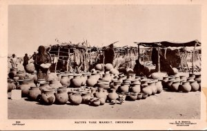 Sudan Omdurman Native Vase Market Tucks Real Photo