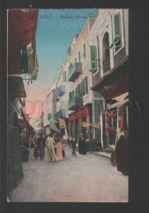 119368 Egypt SUEZ Market Street Vintage postcard