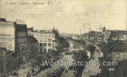 Hamburg Germany, Deutschland Postcard Reeperbahn  Reeperbahn