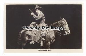 b4290 - Film Cowboy Actor - Tom Mix on his horse Tony - postcard Picturegoer 236