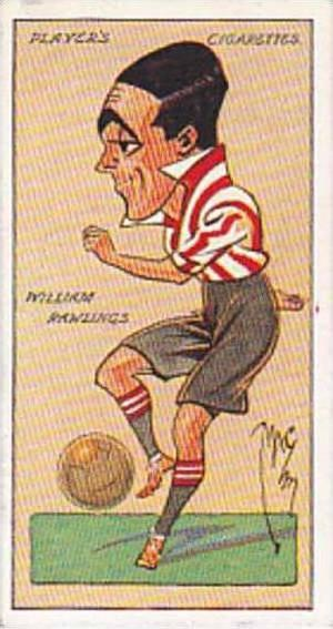 Player Vintage Cigarette Card Football Caricatures By Mac 1927 No 28 William ...