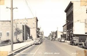 Hancock Michigan~Quincy Street East~Rexall~Post Office?~40s Cars & Truck~RPPC