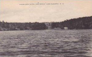 New Hampshire LaKe Sunapee Granliden Hotel & Beach Artvue