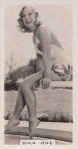 Sonja Henie Hollywood Actress Rare Real Photo Cigarette Card